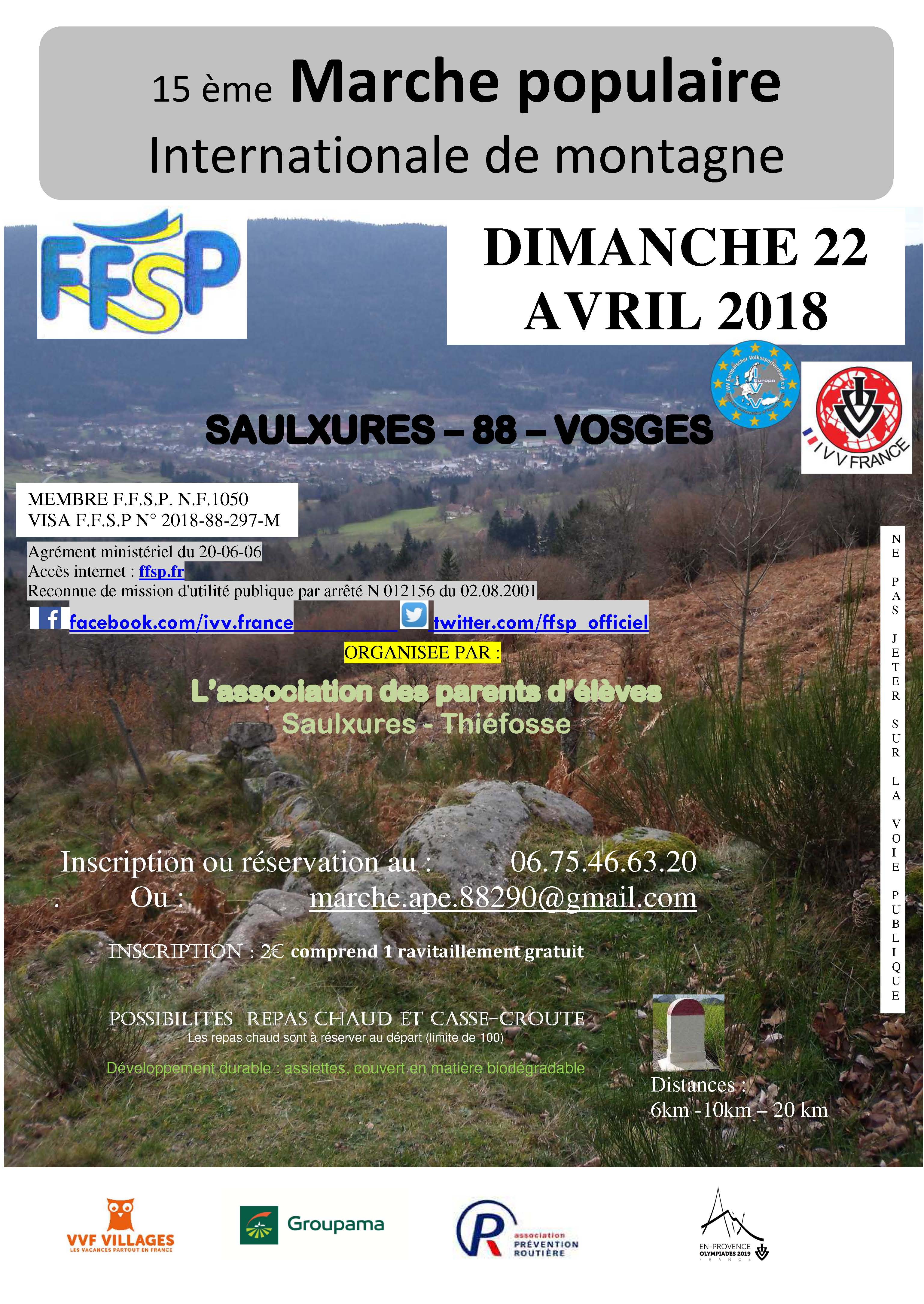 15 ème Marche populaire Internationale de montagne